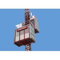 Single Cage Construction Passenger Hoist , SC120TD Building Material Hoist Electric Manufactures