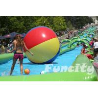 Colorful Inflatable Water Pools Custom Made 0.9 PVC Tarpaulin with Long Slide Manufactures