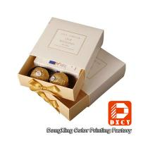 Quality Eco Friendly Custom Printed Packaging Boxes , Wedding Chocolate Packaging Drawer Gift Box for sale