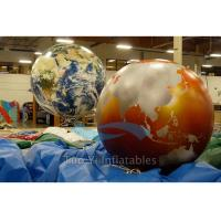 Exhibition Inflatable World Globe Ball 2 M Digital Printing With Globe Map Manufactures