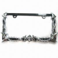 License Plate/Frame with Chrome Plating, Made of Plastic Manufactures