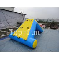 Commercial 0.9mm PVC Tarpaulin Inflatable Big Air Slide / Blob For Water Park Manufactures