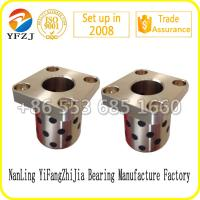 Quality JFB series Oilless Solid inlaid copper bushing Flange graphite bronze bushes for sale