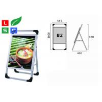 Quality Waterproof LED Advertising Display Stands , Silk Screen Dots Printed LGP LED Poster Frame for sale