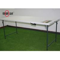 Stable 8 Foot Plastic Folding Tables Innovative Nesting For Leisure Time Manufactures