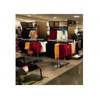 Chorme Metal Floor Standing Garment Display Stand Two Ways Easy Assembly For Retail Shop Manufactures