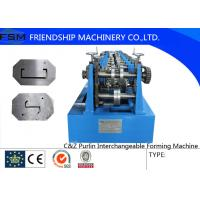 Automatic C Z Purlin Roll Forming Machine 1.5 - 3.0mm Thickness Manufactures