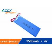 7.4V lipo battery with 3500mAh lithium polymer battery pack 6040105 pl 6040105 2S1P Manufactures