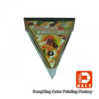 Glossy Varnishing Food Grade Pizza Packaging Boxes Triangle Single Slice Pizza Box Manufactures