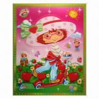 3-D Sticker with 5 Colors Changing Effect, Made of Recycled PP, Non-toxic Manufactures