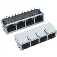4 Port Magnetic RJ45 With Transformer With LED And EMI Fingle 90 Degree Jack Manufactures