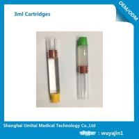 Pharmaceutical Red Butyl Rubber Glass Cartridge , Local Anesthetic Cartridge Manufactures