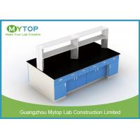 Steel Structure Lab Bench Furniture For HIV Laboratory Heat Resistance Manufactures
