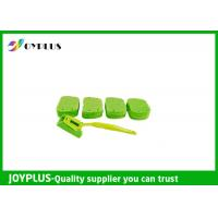 Kitchen Home Cleaning Tool Dish Cleaning Pads With Long Handle Green Color Manufactures