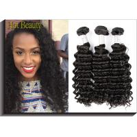 1B Color Deep Wave Virgin Peruvian Hair Extensions Raw Unprocessed Manufactures
