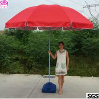 Red / Blue Waterproof Parasol Umbrella With Powder Coated Rib Manufactures