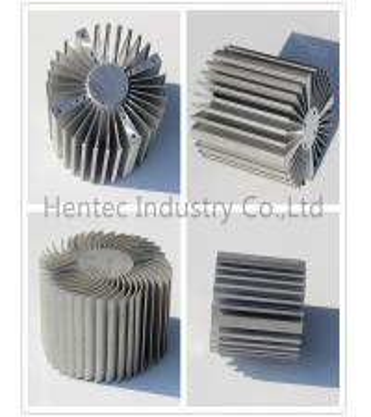 6060 6061 extruded aluminum heatsink for Led Light ROHS / SGS