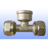 compression brass fitting female tee for PEX-AL-PEX Manufactures