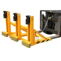 Electric drum lifting equipment , forklift drum tipper for plastic / steel drums Manufactures