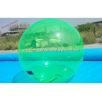 Big Green Inflatable Water Walking Ball , Human Hamster Ball Floating On Water Manufactures