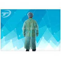 Quality Blue PP 115*137 Cm Nonwoven Disposable Protective Gowns Soft Hand Feeling for sale
