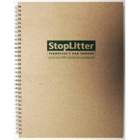 Quality PU Kraft Paper Perfect Binding Personalised Custom Printed Notebook with Pantone for sale
