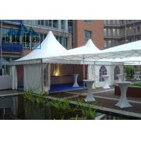 White Color Pagoda Canopy Tent With Flooring System All Ground Situations Manufactures
