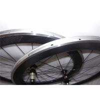 Quality 23MM Width Carbon Wheels With Aluminum Brake Track , V Shape Alloy Clincher for sale