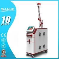 SANHE Q-switch nd yag laser for yellow, red, brown tattoo ,lip color removal Manufactures