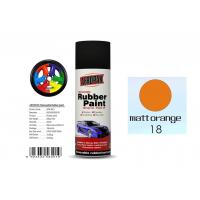 Matt Orange Color Rubber Based Spray Paint 60 Min Hard Dry With REACH Certificate Manufactures