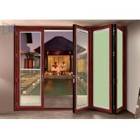 Quality Double Glazed Aluminium Folding Doors Soundproof Energy Saving With Built In for sale