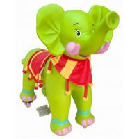 Green Large Plush Stuffed Elephant Toys For Child , Baby Stuffed Animals Manufactures