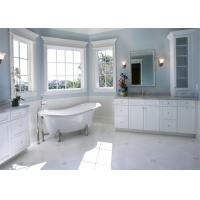 House Furniture Custom Bathroom Vanity Cabinets Paint Surface Including Basin / Faucet Manufactures