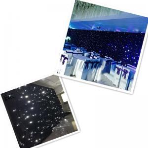 Wholesale Sky light drape led light black curtain led stage backdrop cloth Manufactures