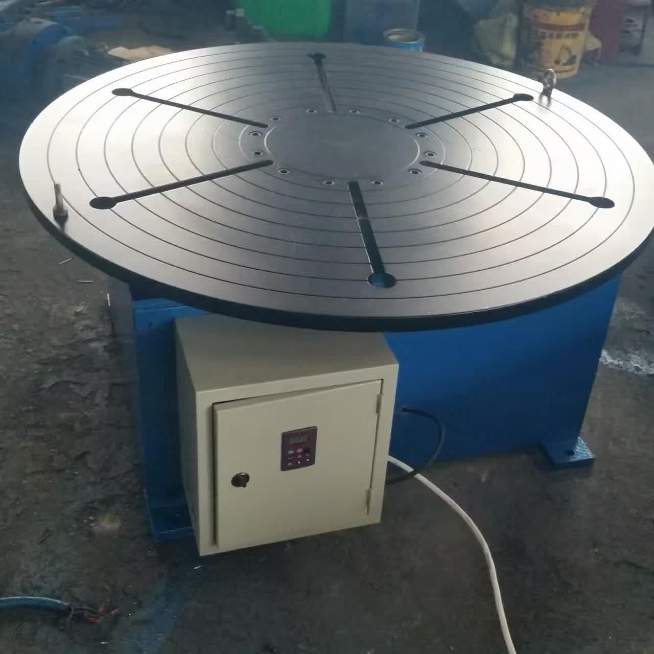 Quality Pipe Revolving Table For Welding For Round Seam Welding Rotary Table With Round Table Supporting 15 Tons for sale