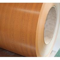 Wooden Grain Color Coated Steel Coil For Department Store Roofing Tiles Manufactures