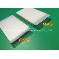 Protective Matte Lamination Film Business Card Size Laminating Pouches 250 Micron Manufactures