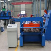 51mm Deep Floor Deck Roll Forming Machine 8-12m / Min With Embossing Device Manufactures