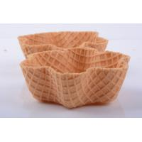 Crispy Tart Chocolate Waffle Cones For Ice Cream , 35mm Height Manufactures