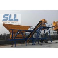 CE Approved Mobile Concrete Batching Plant Portable Space Saving 17.5T Manufactures