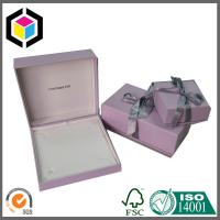 Pink Color Luxury Jewelry Paper Gift Box Packaging Box with Ribbon Manufactures