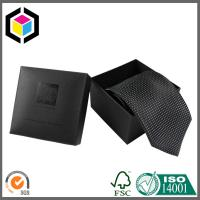 Beautiful Black Color Chipboard Tie Packaging Box; Paper Gift Box for Tie Package Manufactures
