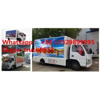 Quality 2017S new ISUZU 4*2 LHD mobile LED billboard advertising truck with 3 sides P6 LED screen, hot sale LED vehicle for sale