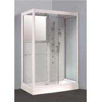 China Large Rectangular Walk In Shower Enclosures Stand Alone Shower Units With Steam Systems on sale