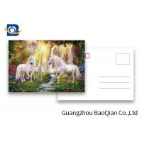 Full Color Animated Postcards , Two Sides Custom Lenticular Printing 0.6 MM PET Manufactures