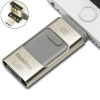 Quality Android Phone USB Swivel Flash Drive Small Grey Multi - Function for sale