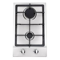 Built In Stainless Steel 2 Burner Gas Hob , 2 Burner Gas Range With Thermocouple Manufactures