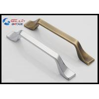 Modern 192mm Kitchen Cabinet Handles And Knobs / American Stylish Square Zinc Drawer Knobs Manufactures