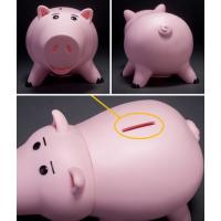 PVC Model Toys Kids Piggy Banks Pink Coin Money Box Eco Friendly Vinyl Material Manufactures