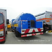Stainless Steel Liquid Tank Truck / Water Tanker Truck With High Pressure Jetting Pump Manufactures